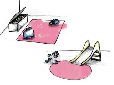 Abbildung 8: Teppich im Kinderzimmer (Quelle: Wecon Home)