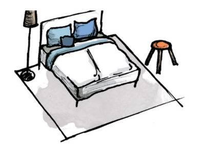 Abbildung 5: Teppich im Schlafzimmer - Variante 1 (Quelle: Wecon Home)