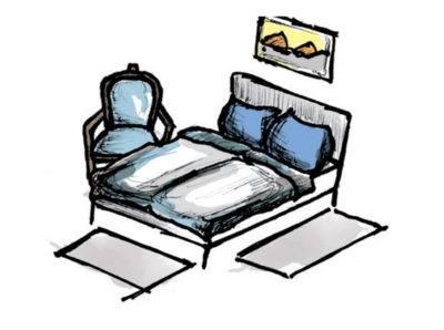 Abbildung 6: Teppich im Schlafzimmer - Variante 2 (Quelle: Wecon Home)