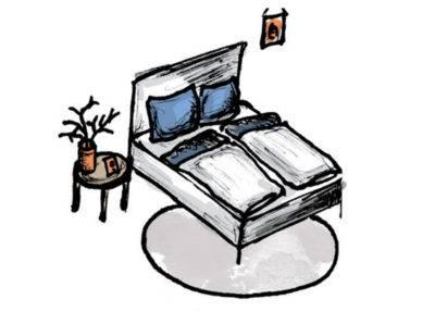 Abbildung 7: Teppich im Schlafzimmer - Variante 3 (Quelle: Wecon Home)