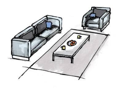 Abbildung 2: Teppich im Wohnzimmer - Variante 1 (Quelle: Wecon Home)