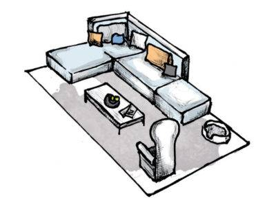 Abbildung 3: Teppich im Wohnzimmer - Variante 2 (Quelle: Wecon Home)
